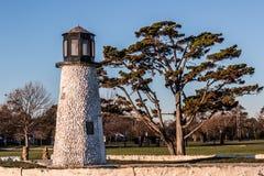 Former Miniature Golf Lighthouse at Buckroe Beach in Hampton, VA Stock Photos