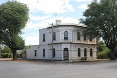 The former National Bank of Australasia building 1887 in Lyons. Street, Newstead, Australia stock photography
