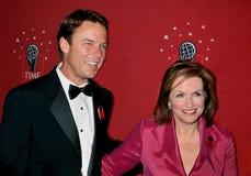 John Edwards and Elizabeth Edwards stock image