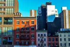 Former och linjer i New York Arkivbilder