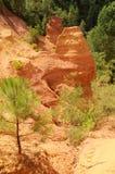 Former ochre quarry in Roussillon, France Stock Images