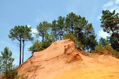 Former ochre quarry in Roussillon, France Royalty Free Stock Photography