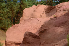 Former ochre quarry in Roussillon, France Royalty Free Stock Photo