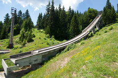 Former olympic big ski jump, Mount Igman, Sarajevo, Bosnia and Herzegovina Royalty Free Stock Image