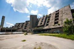 Former olympic Hotel, Mount Igman, Sarajevo, Bosnia and Herzegovina Royalty Free Stock Photography