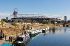 The former Olympic Stadium in London. Royalty Free Stock Photos