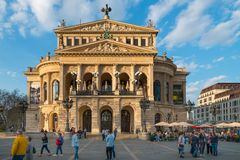 Former Opera Building, Alte Oper, Frankfurt am Main stock photos