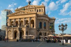Former Opera Building, Alte Oper, Frankfurt am Main royalty free stock images