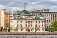 Former Palace of Grand Duke Nicholas, which now houses the residence of the Russian Presidential Envoy, St. Petersburg. SAINT-PETERSBURG, RUSSIA - MAY 26, 2017 Royalty Free Stock Images