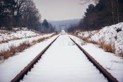 Former Polish-Belarusian railway border crossing Stock Photo
