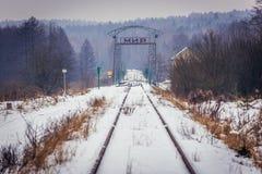 Former Polish-Belarusian railway border crossing Royalty Free Stock Images