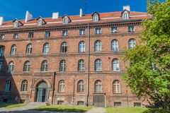 Former Polish Post Office in Gdansk, Pola. Nd stock photos