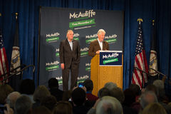 Former President Bill Clinton and candidate for Governor for the state of Virginia, Terry McAuliffe. ROANOKE, VA – October 29 – Former President Bill Clinton Royalty Free Stock Image