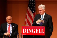 Former President Bill Clinton and Congressman John Royalty Free Stock Photo