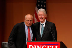 Former President Bill Clinton and John Dingell Stock Photos