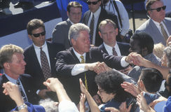 Former President Bill Clinton meets the crowd Royalty Free Stock Image