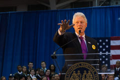 Former President Bill Clinton speaks Stock Image