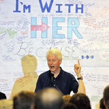 Former President Bill Clinton Speaks at a Hillary Clinton Rally, Stock Photo