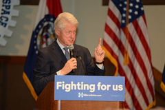 Former President Bill Clinton Speaks at Hillary Rally Royalty Free Stock Photography