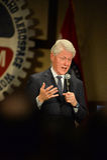 Former President Bill Clinton Speaks at Hillary Rally Stock Image