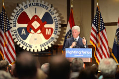 Former President Bill Clinton Speaks at Hillary Rally Royalty Free Stock Image