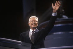 Former President Jimmy Carter. At the 1992 Democratic National Convention at Madison Square Garden, New York