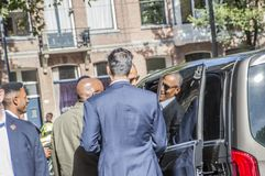 Former President Obama Leaving The Amstel Hotel At Amsterdam The Netherlands 29-9-2018 royalty free stock photo