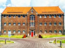 Former prison building on the Oostereiland in Hoorn, Holland. The Former prison building on the Oostereiland in Hoorn, Holland royalty free stock photography