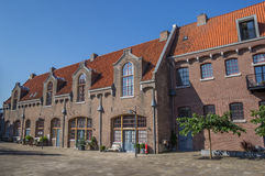 Former prison building on the Oostereiland in Hoorn. Holland royalty free stock photography