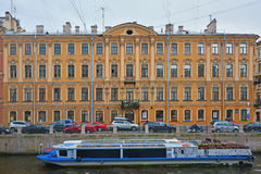 Former profitable house of Lipin on Moika River in Saint Petersburg, Russia Stock Photos