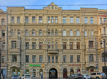 Former profitable house of Nikolaev on Nevsky Avenue in Saint Petersburg, Russia Stock Photo