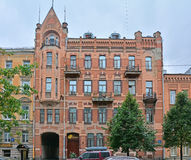 Former profitable house of Prokhorov in modern style on Vasilyevsky Island in Saint Petersburg, Russia Royalty Free Stock Photos