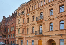 Former Propper's publishing house in Saint Petersburg, Russia. House of 19th century embankment of Admiralteysky Canal in the centre of Saint Petersburg, Russia Stock Images