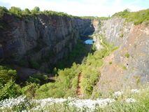 Former quarry Amerika in czech landscape stock images