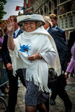 Former Queen Beatrix of the Netherlands. Visiting the town of Veere in 2005 Stock Image