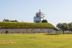 Free Former Radio Station On Fort Monroe Stock Image - 135590901