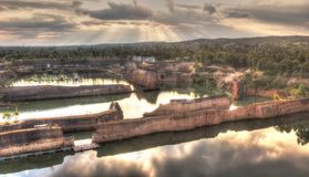 Former sand quarry royalty free stock image