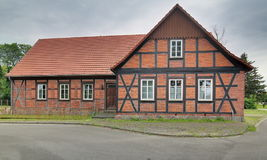 Former school, listed as monument in Trantow, Mecklenburg-Vorpommern, Germany.  stock image