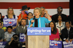 Former Secretary Hillary Clinton Campaigns for President at East Los Angeles College Cinco de Mayo, 2016 Stock Images