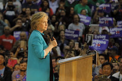 Former Secretary Hillary Clinton Campaigns for President at East Los Angeles College Cinco de Mayo, 2016 Royalty Free Stock Photography