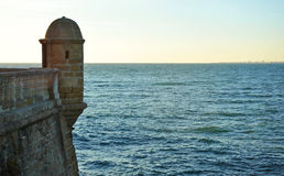 Former sentry box, Cadiz, Andalusia, Spain Royalty Free Stock Images