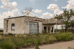 Former Service Station on Route 66 Stock Image
