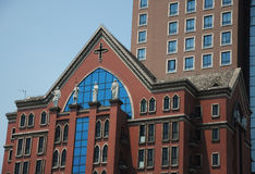 Former site of Xujiahui Virgin Mary Convent Royalty Free Stock Photography