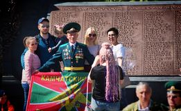 Former soldiers celebrating the Day of border guard