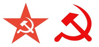 Former Soviet Union political symbols Stock Photo