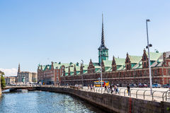 Former stock exchange building in Copenhagen, Denmark royalty free stock images