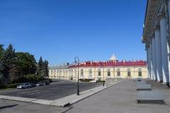The former stock exchange building in Leningrad Stock Images