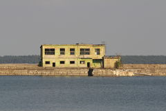 Former submarine base Royalty Free Stock Images