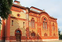 Former synagogue, now the Philharmonic Orchestra House, Uzhhorod Royalty Free Stock Photos