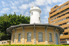 Former Tainan Weather Observatory under blue sky Stock Image